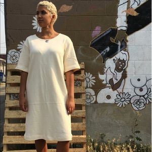 Sunja Link Knit Dress in Un-Bleached